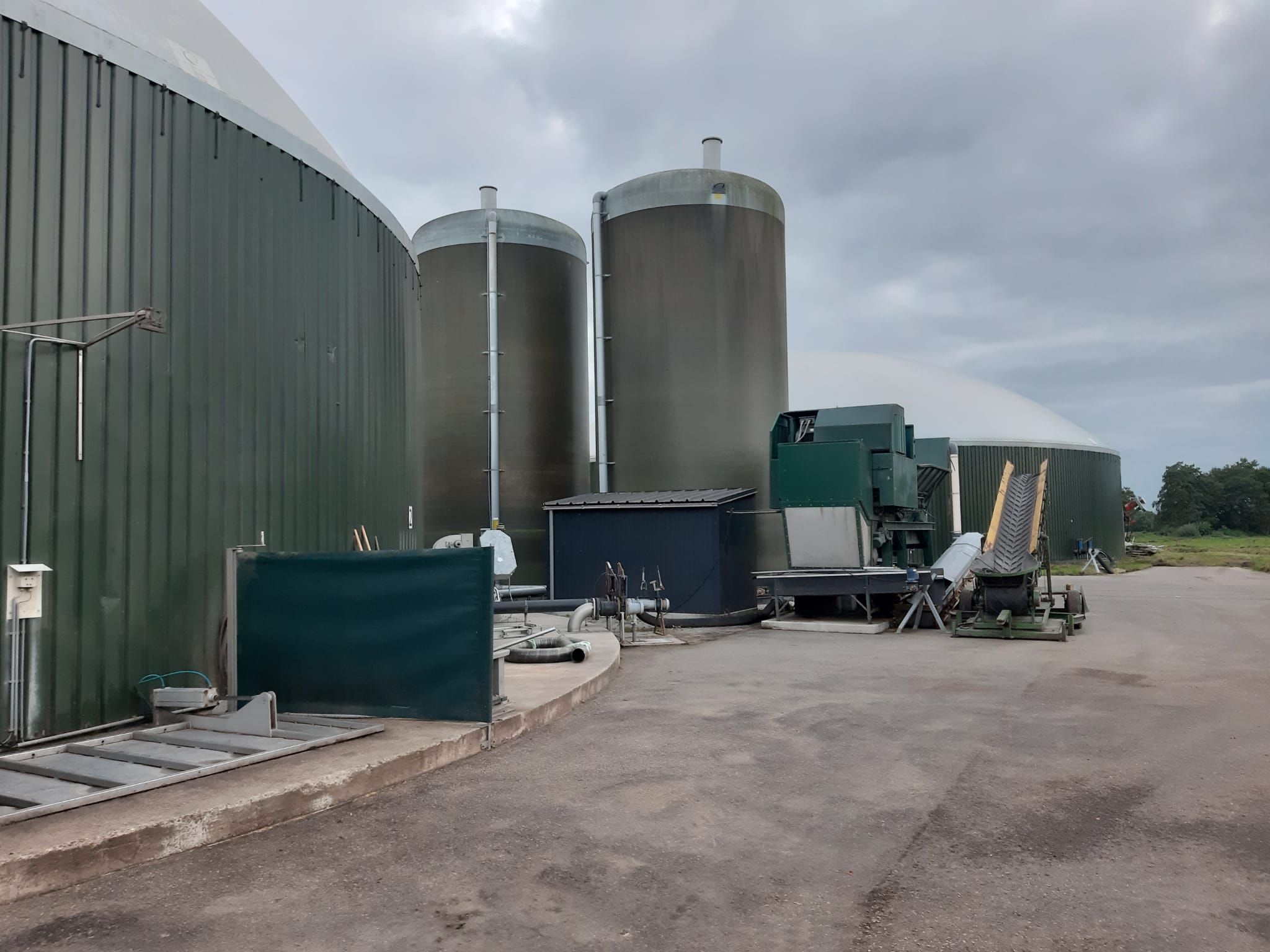 André Oudeboon bezoekt biogasinstallatie
